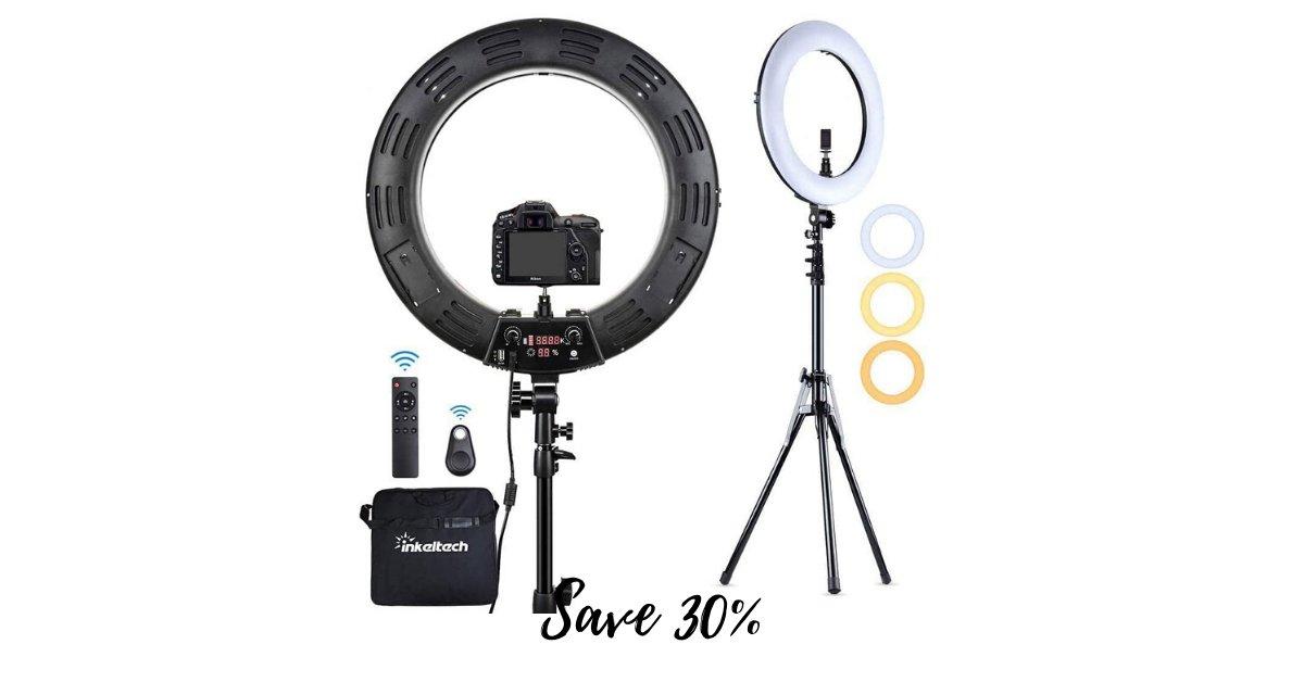 Save 30% on the Inkeltech 18-in LED Ring Light Photo Kit ad >>>> https://amzn.to/2ZNF3gJ #summer pic.twitter.com/4kJq9aO2FN