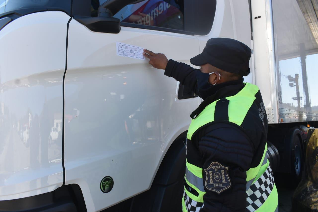 control camiones faja policia acceso ingreso