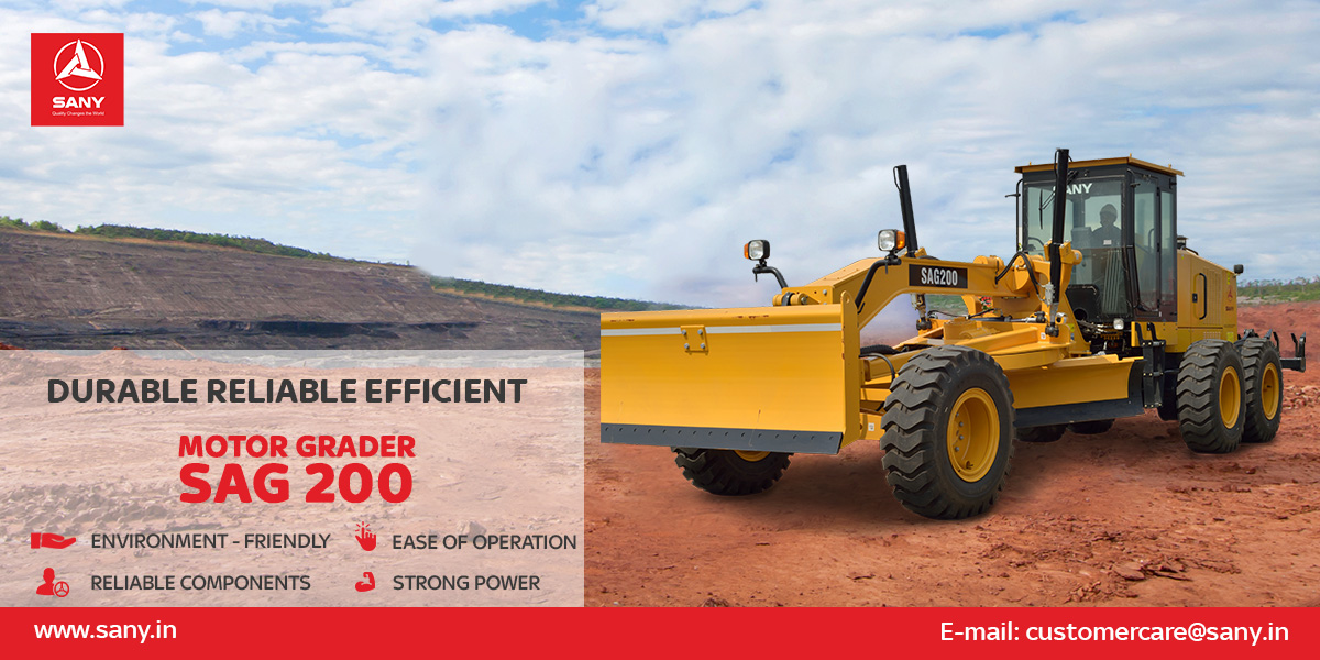SAG200 features - Easy operation, Powerful, Reliable and Eco-friendly.   With the world's first hydraulic mechanical transmission system and intelligent control system, SAG200 provides precise hydraulic control and highest efficiency in its class.  #motorgrader #heavyequipmentpic.twitter.com/Q6awZmvBJC