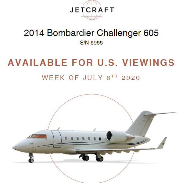 2014 #Bombardier #Challenger 605 available for U.S viewings at @JetcraftCorp   FANS 1/A Encryption Key Upload ADS-B Out Version 2 More details at: https://t.co/O4r4OVyCuR  #bizjet #bizav #aircraftforsale #privatejet #privateflying #jetforsale https://t.co/SSRJr7c3DE