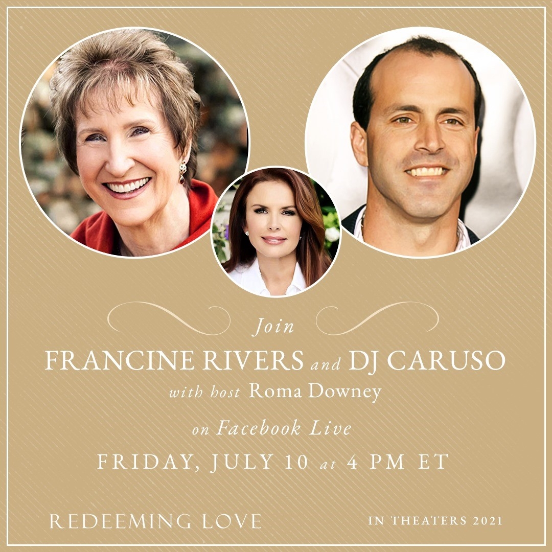 Mark your calendars! Francine Rivers will be participating in a Facebook Live event this Friday (July 10) at 4 p.m. Eastern to talk about the @RedeemingMovie. Learn more here: facebook.com/redeeminglovef…
