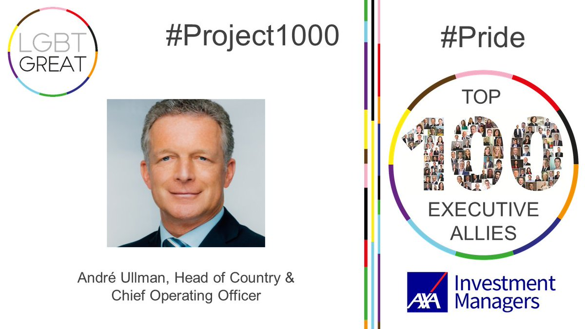 """Allyship means stepping up to provide the support others needed to thrive"" - André Ullman, Head of Country & Chief Operating Officer, @AXAIM #Project1000 #Pride #YouMeUsWe https://t.co/h4zmZbRJwZ https://t.co/iOQLsiaD4o"