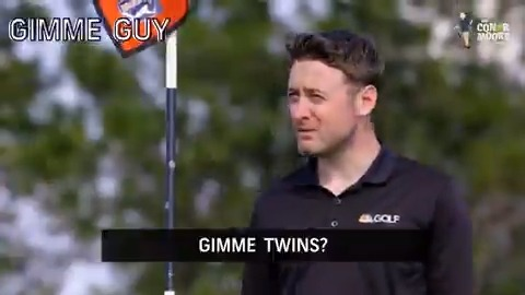 Do you play with someone that takes too many gimmes? Tag the #GimmeGuy in your group the stream #TheConorMooreShow starring @conorsketches 🏌🤣🍀: golfpass.social/myxx