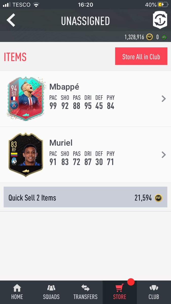 RT @PSocks17: @MattHDGamer So from the 88+ I opened the two player pack and no joke I got this lol https://t.co/qQZEpD54hR