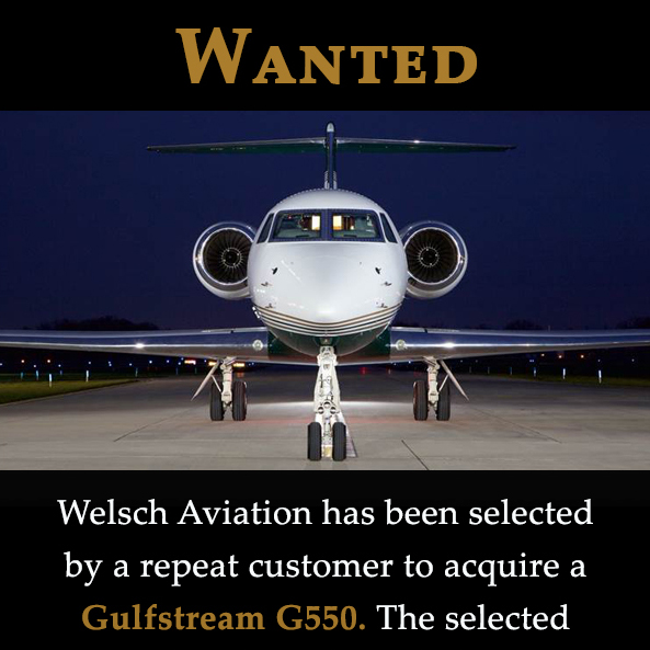 #aicraftwanted - #Gulfstream #G550 at Welsch Aviation No damage history Full 2020 compliance Contact them at: https://t.co/fgZg9MrlqW  #bizjet #bizav #aircraftforsale #privatejet #privateflying #jetforsale #businessaviation https://t.co/2A75jOzvJh