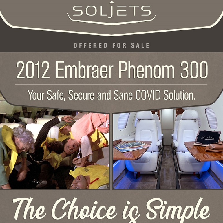 New to market - 2012 #Embraer #Phenom 300 at @SOLJETS  L3 WiFi Fully enrolled on JSSI 100% and EEC Standard More details at: https://t.co/v0sqxEPZQT  #bizjet #bizav #aircraftforsale #privatejet #privateflying #jetforsale #businessaviation https://t.co/1mh1DwfFpH