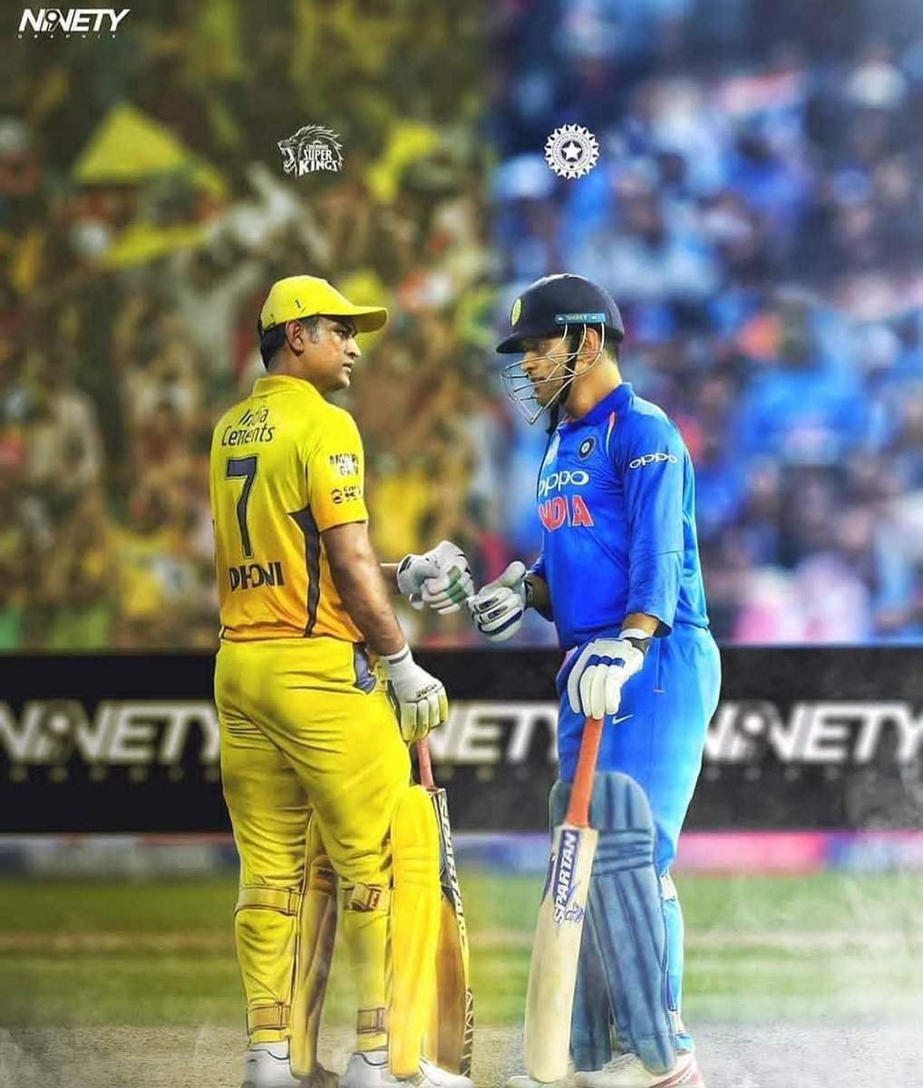 From Bleed Blue to Yellove, Mahi to Thala,  One Man, A Million Emotions!@msdhoni @ChennaiIPL #MSDhonipic.twitter.com/ERYGtJgoR0