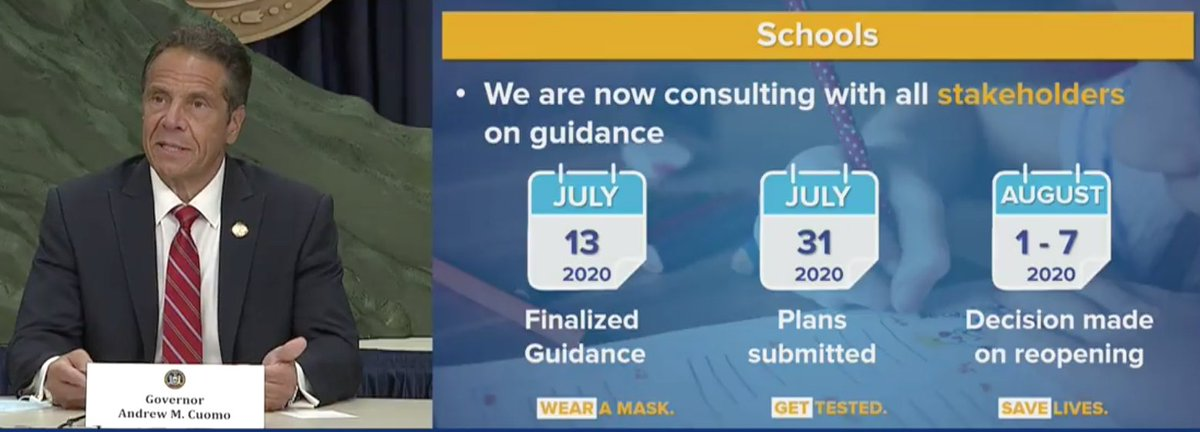 Back-to-school plans timeline for NY: