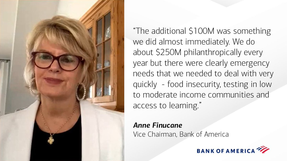 At #FortuneHealth, our Vice Chairman @AnneFinucane spoke to @ariannahuff and @nfergus about the quick-decision to increase our support for our local communities during this health and humanitarian crisis. bit.ly/3e7eeJD