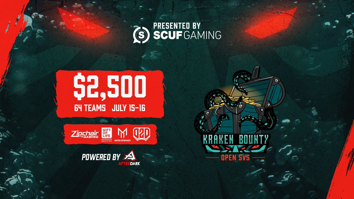 Squad up and prepare to chase the bounty. 💰 The #KrakenBounty presented by @ScufGaming is back again. Join the action » afdesports.com/flmutineers