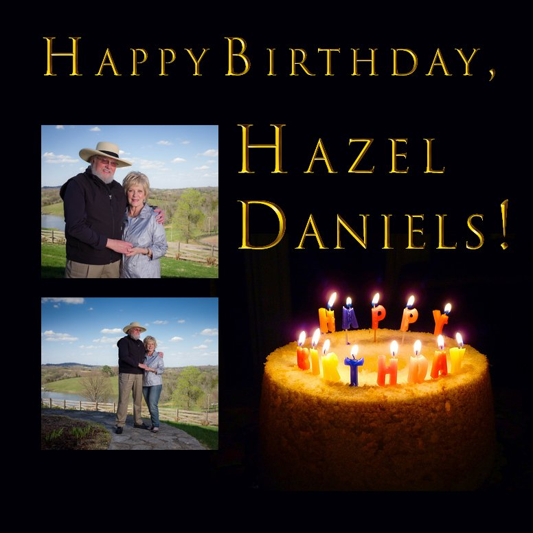 ON THIS DAY in 1943, Hazel Daniels was born. Happy Birthday, Hazel. We hate that your special day is clouded over by with such sad circumstances. - TeamCDB/BW