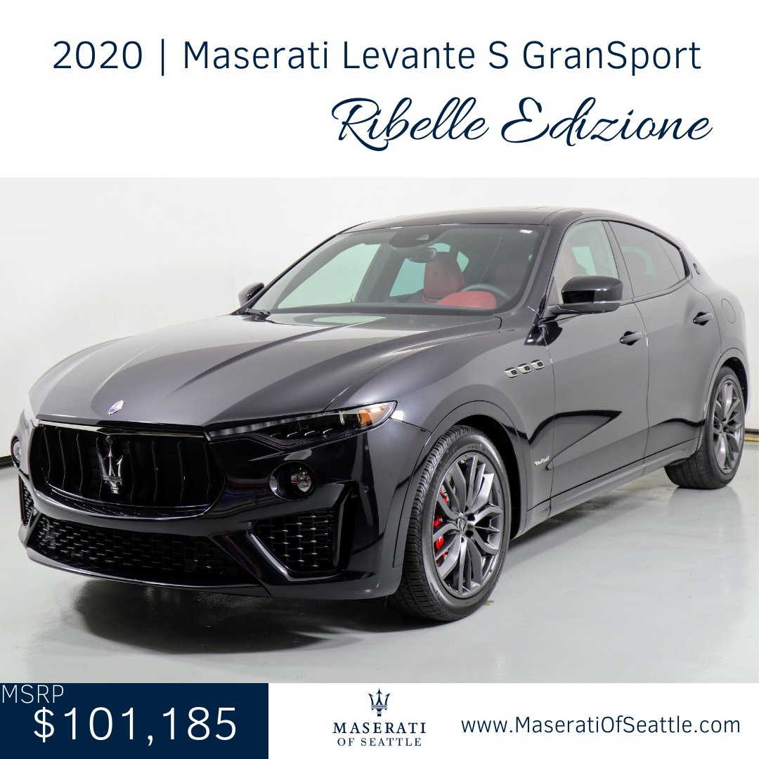 Break from ordinary and experience the #MaseratiLevante Ribelle Edizione. 1 of only 100 produced, the combination of Rosso leather with Black Alcantara and carbon fiber trim form a #MaseratiofSUVs to be reckoned with . #MaseratiOfSeattle https://t.co/GSPjVFmOE7 #Maserati #Levante https://t.co/90Ukc29Vl5