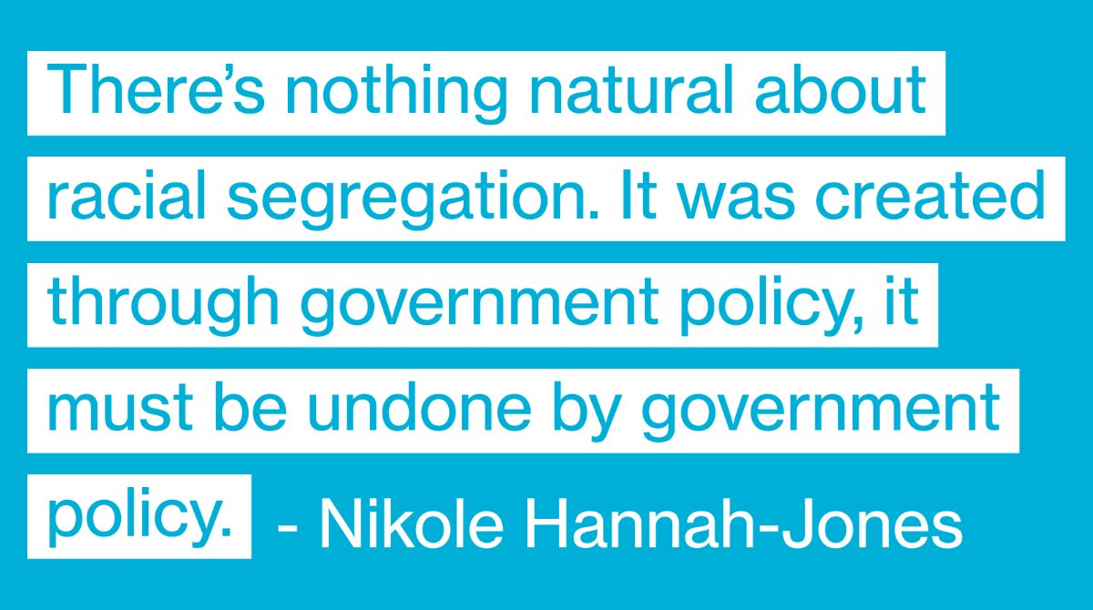 """There's nothing natural about racial segregation. It was created through government policy, it must be undone by government policy"" - @nhannahjones said on yesterday's conversation with the @NLIHC about #racialequity and #covid19."