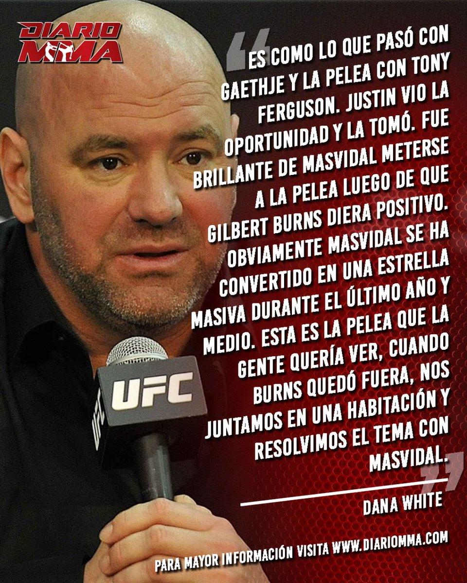 Dana White aplaude la decisión de Masvidal de tomar la pelea ante Usman. #JorgeMasvidal #Masvidal #Gamebred #StreetJesus #supernecessary #UFC #MMA #DanaWhite #DiarioMMA La nota completa en https://t.co/GdRoYWCQ8Q https://t.co/3Vk90MJvUJ