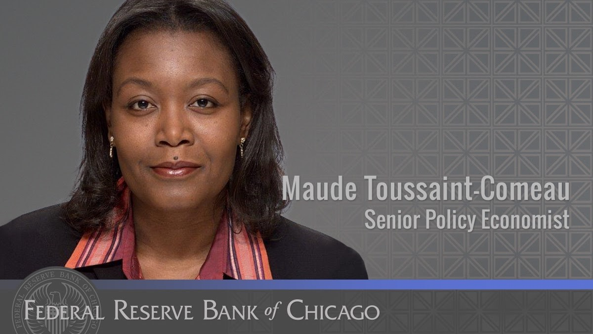 #FedFiles: Maude Toussaint-Comeau is a senior policy economist on our #communitydevelopment team. Maude specializes in the study of economic and financial opportunities for minorities and immigrants. https://t.co/mcZDyJBUrD https://t.co/PEHoNJH7AM