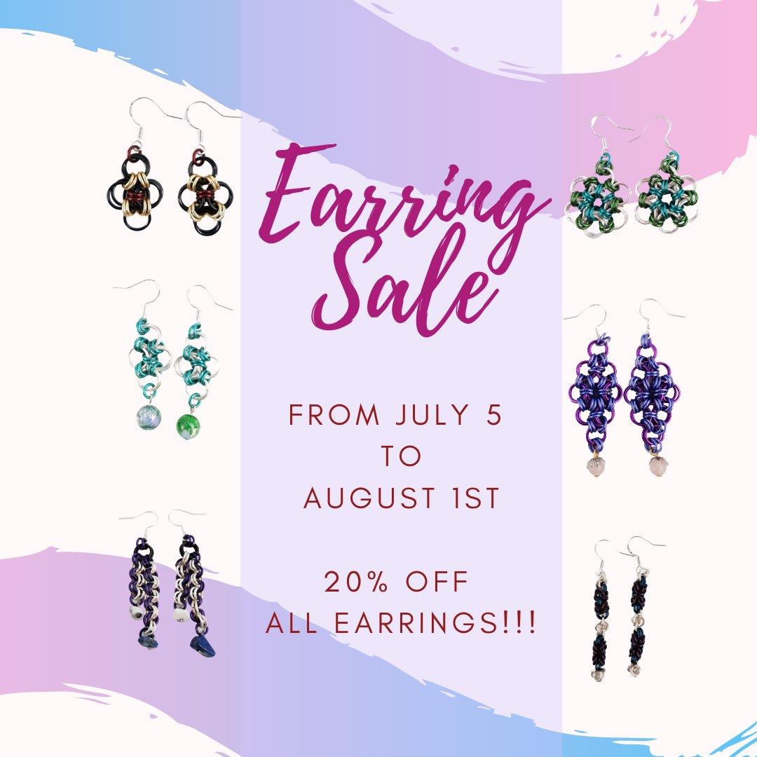 EARRING SALE!!! https://buff.ly/2UvqX2b #handmadeearrings #handmadeearringsforsale #earrings #earringsoftheday #earringstagram #earringswag #earringshop #earringsforsale #earringsLover #earringsaddict #earringshandmade #earringsfashion #earringsshop #earringslovepic.twitter.com/LJRDVFQ7OQ