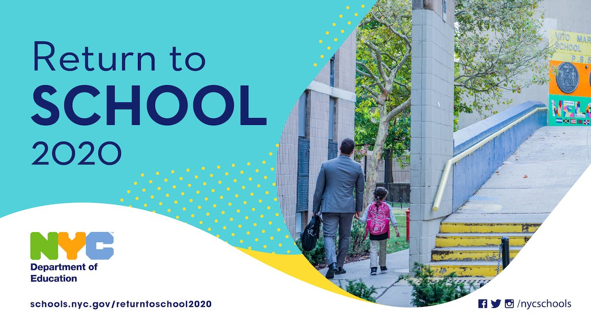 "NYC Public Schools on Twitter: ""THREAD: Our commitment to health & safety  drives everything that we do, and it will drive us into the new school  year. As #COVID19 cases rise across"