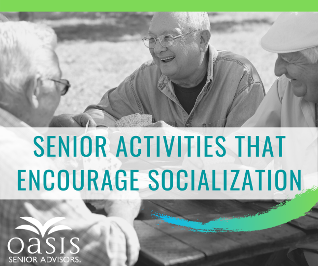 Staying social is a part of healthy aging, so it's important to encourage seniors to make socializing part of their regular routines.  Contact us today about socialization and senior living.  518-930-6416 #seniorliving #albanyNY #oasiscares<br>http://pic.twitter.com/MoIoWvQb8t