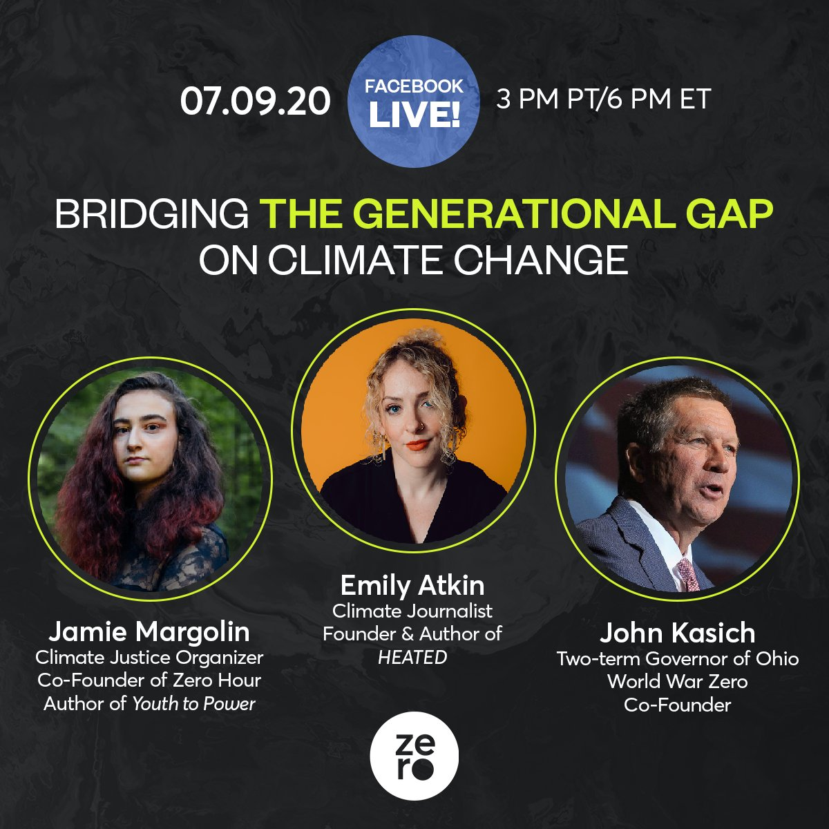 Hope you can tune in this Thursday, July 9th at 6PM ET for a conversation about bridging the generational divide on #ClimateChange.  Sign up for a reminder for this @WorldWarZeroOrg event! See you there!!  https://t.co/JdWs0IaXbe https://t.co/9imU3Cbv7P