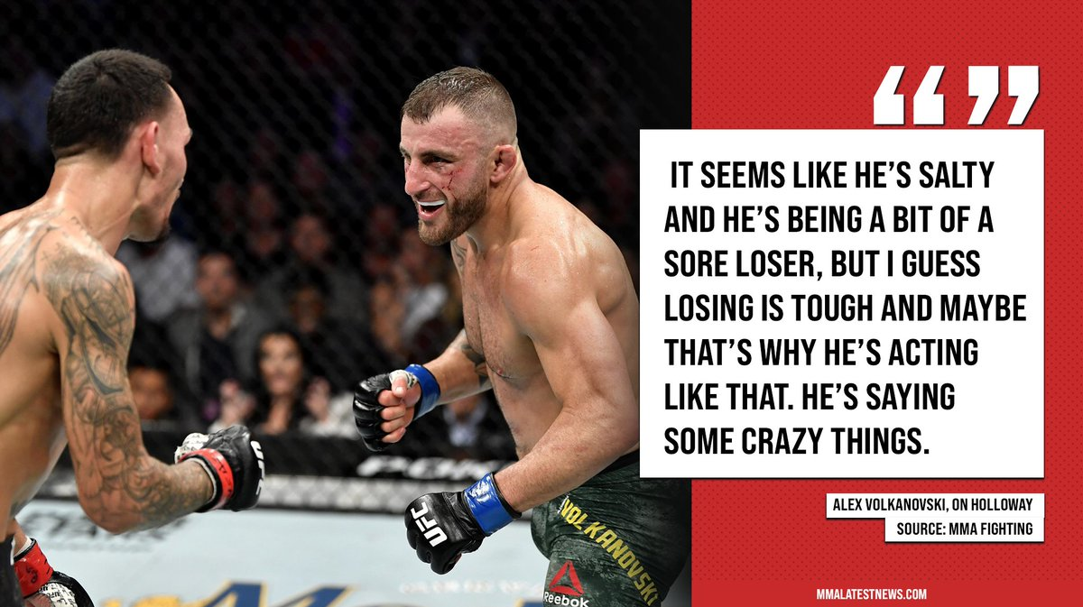 🗣️ Alex Volkanovski feels like Max Holloway is acting like a sore loser in the build up to #UFC251. https://t.co/95jWv7ukry