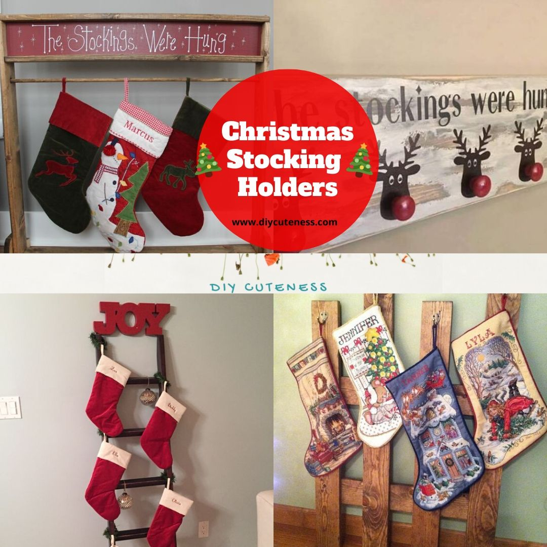 Try your hand at making one of these #stocking holders to add to your #Christmas decor this year #stockings #ChristmasInJuly #ChristmasInJuly2020