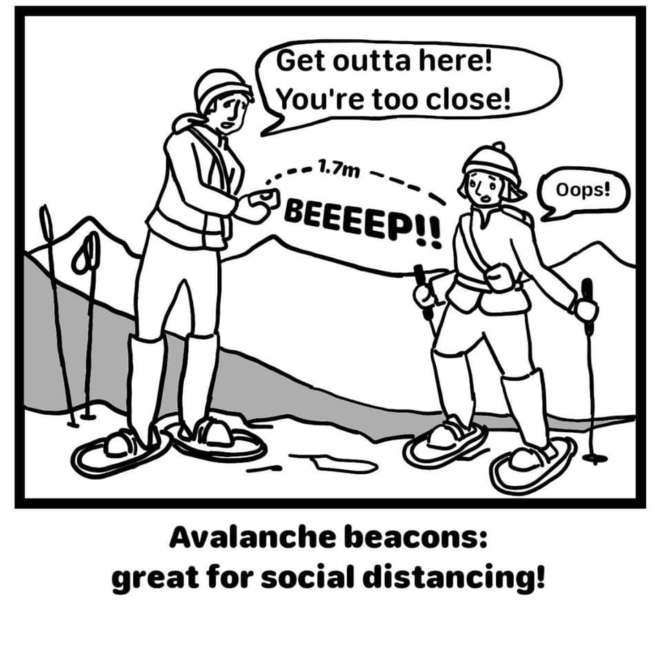 🤣 Brilliant way to #socialdistance on the ski slopes 🤣  Thanks @skinewgen for sharing
