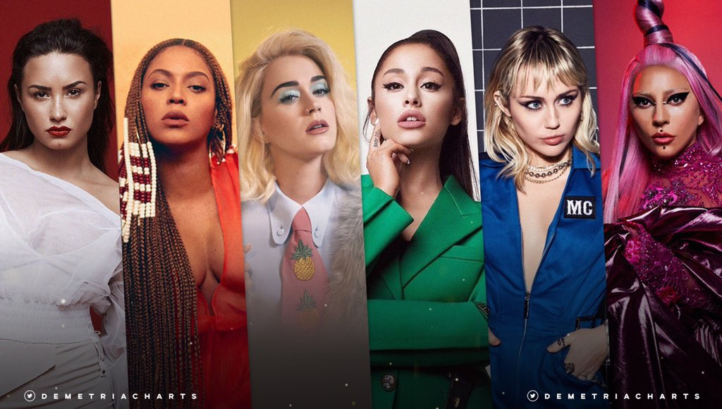 Female singers banned from Russia for support the LGBTQ+ community:  • Demi Lovato • Beyoncé  • Katy Perry • Ariana Grande • Miley Cyrus • Lady Gaga  Congratulations legends!  <br>http://pic.twitter.com/rKZmM52dlZ