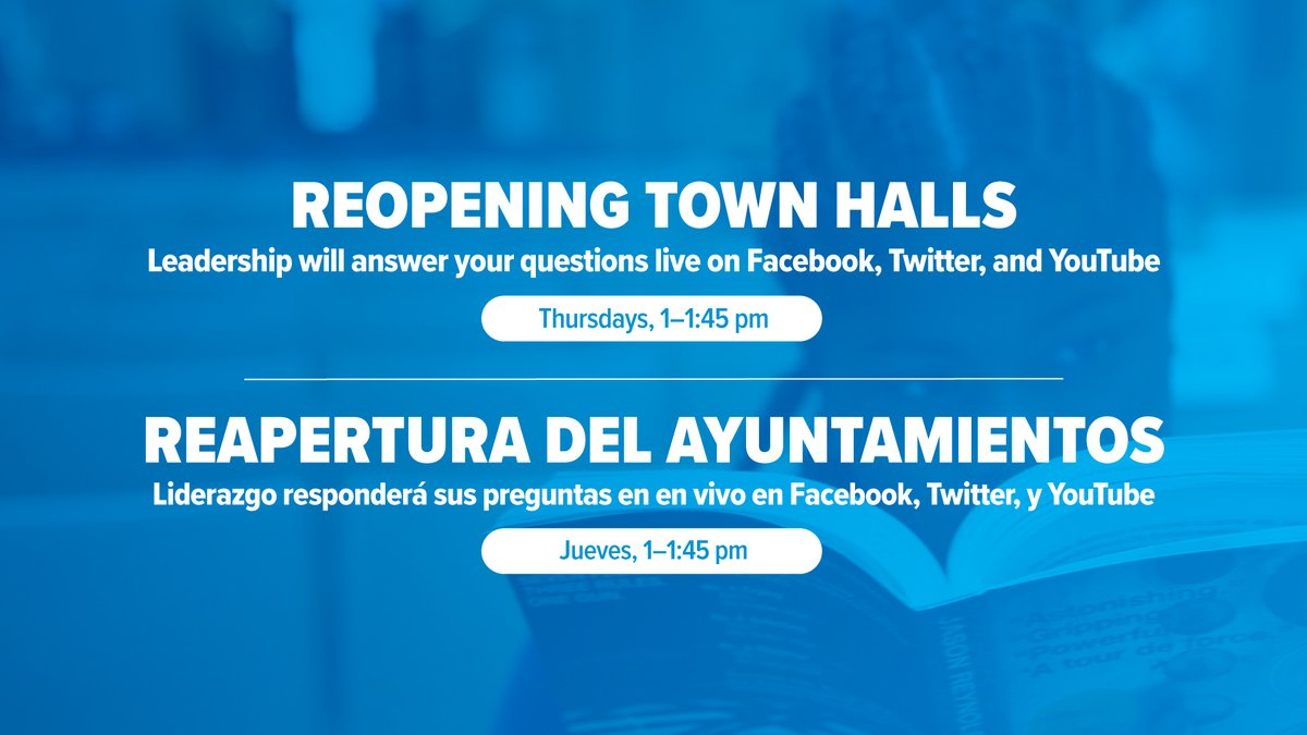Join us every Thursday in July for a live reopening Q&A.