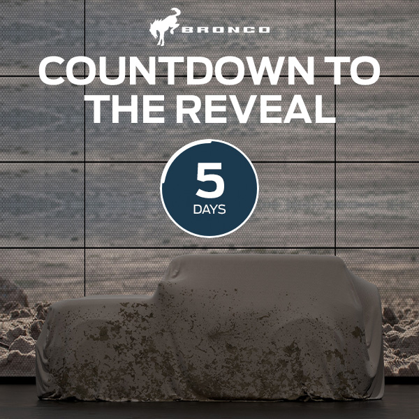 The 2021 #Ford #Bronco Reveal is almost here! Click here to learn more: https://t.co/C92G351jKs https://t.co/z3iI9Iwe7U