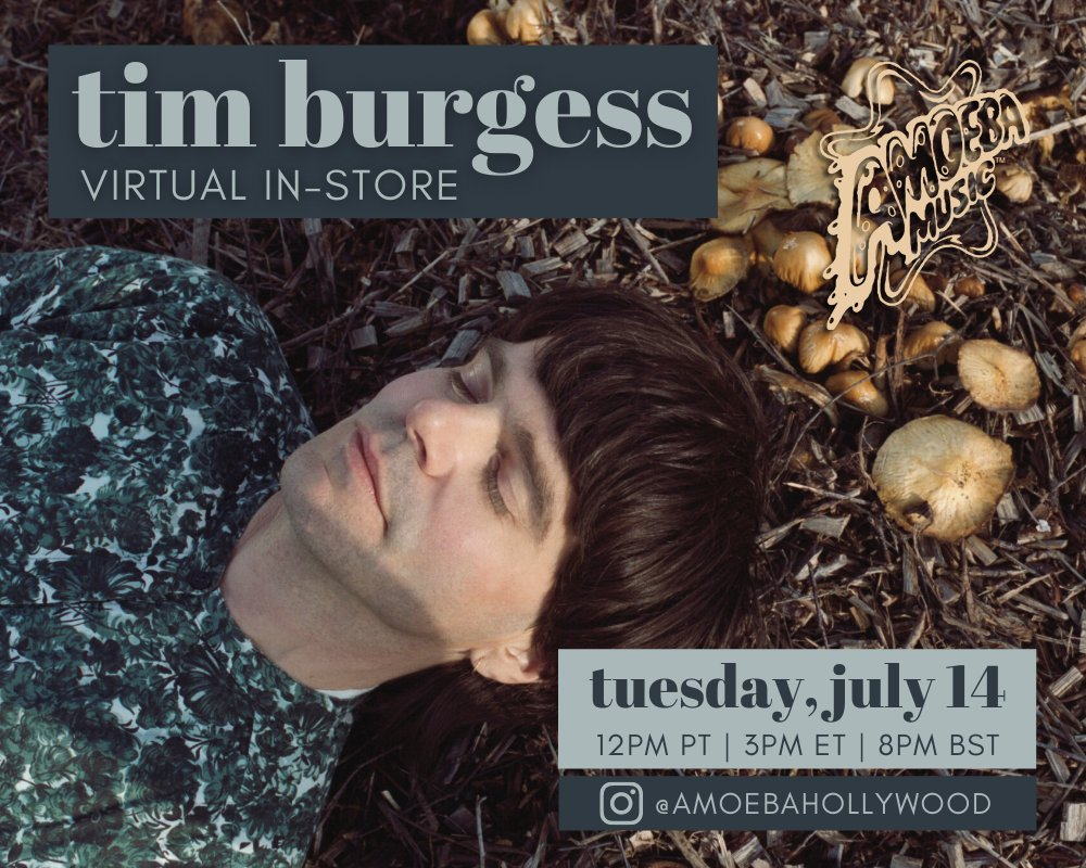 """.@thecharlatans frontman @Tim_Burgess is performing songs on Amoeba Hollywood's Instagram this Tuesday, July 14th at 12pm PT! Tim's new solo album """"I Love the New Sky"""" is available now via @PIASAmerica.  Tune in ➡️ https://t.co/0TXY02HUNL https://t.co/9DfMULtjl7"""