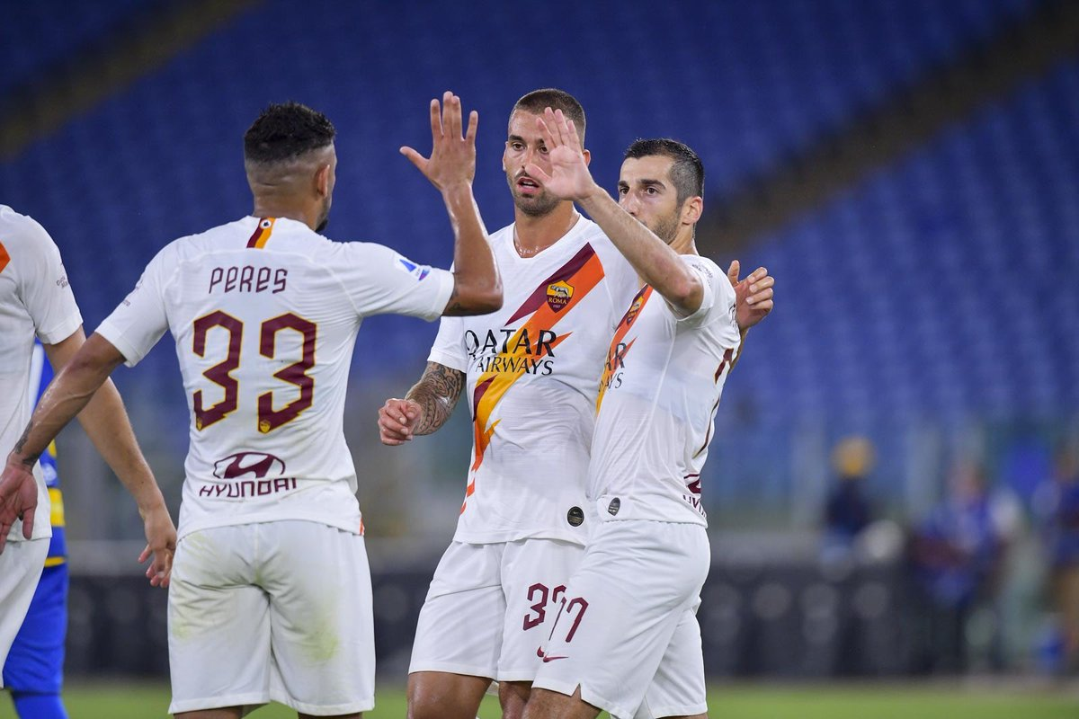 Another great performance by @HenrikhMkh 👏👏  Goal + assist by #Micki helped @OfficialASRoma to a come-from-behind win against @1913parmacalcio   #Armenia #Football #Mickimagic #GoMicki https://t.co/xhYIdnGIiw