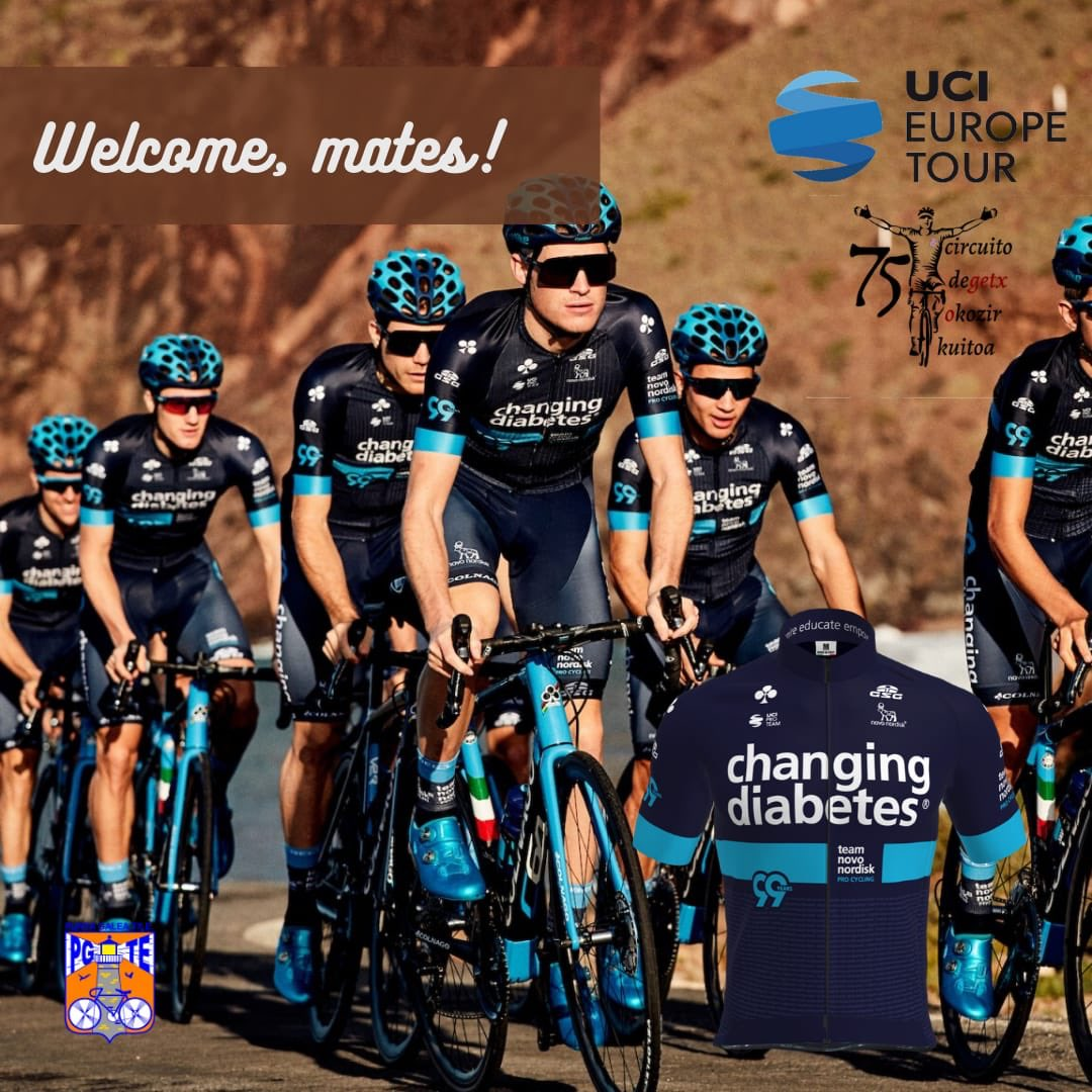 Today we present the UCI Pro Team @teamnovonordisk  An American team that shows that with diabetes, high-level cycling is possible. We will see them fighting for victory! Welcome! @PuntaGaleaTxE #CircuitoGetxo #GetxokoZirkuitoa #Getxotxirrindularitza #GetxoKirolak #PuntaGaleaTxe https://t.co/wTyPYO49JK