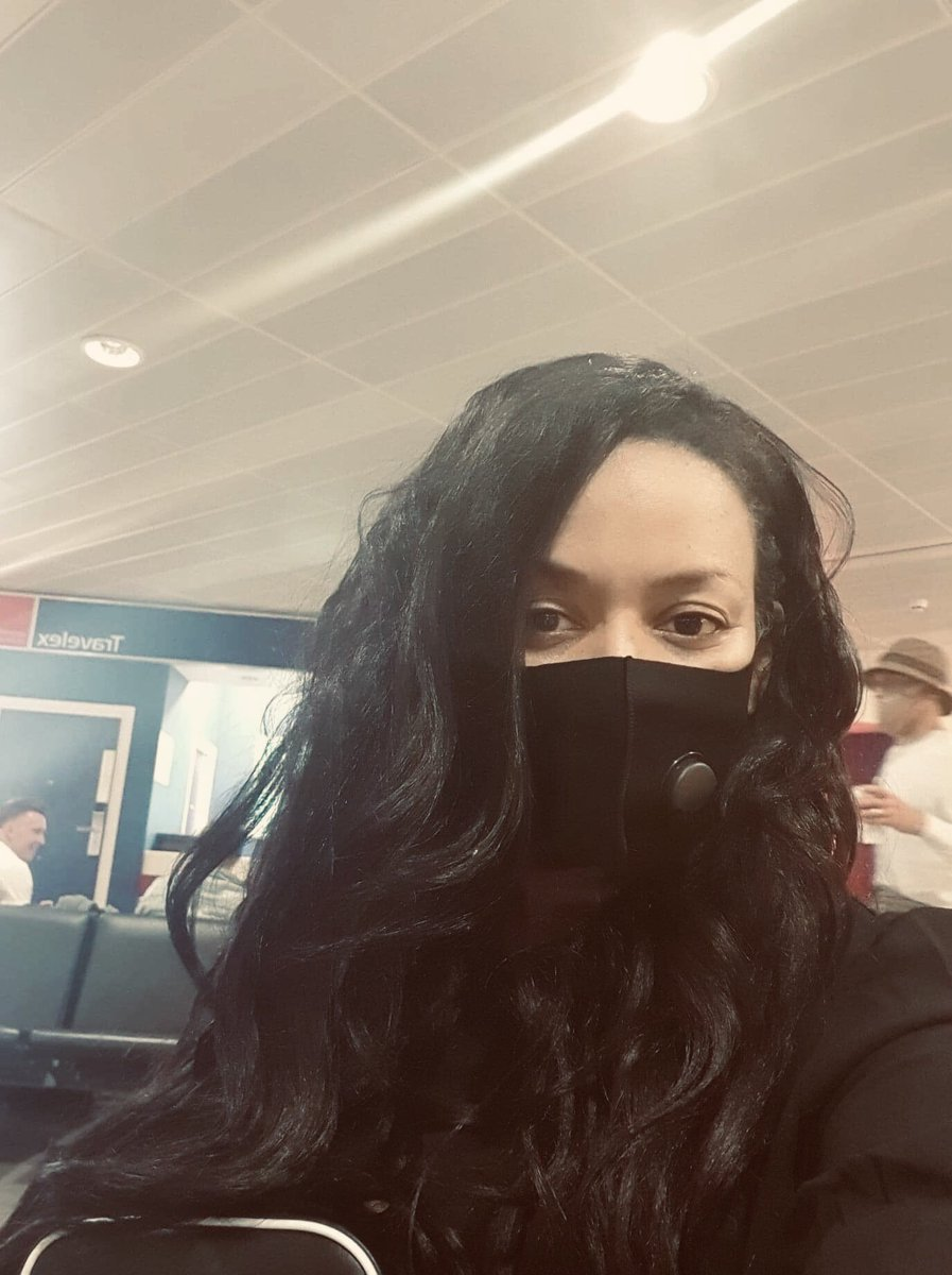Beneath this mask lies a big fat smile. So good to be in my second home, waiting for a flight to Ibiza. ✈️ https://t.co/SFmFjS0jyA