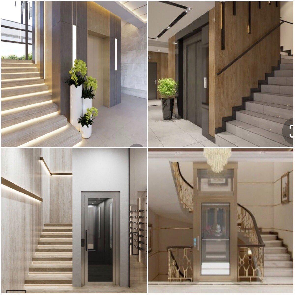 مساحة بيت الدرج مع المصعد