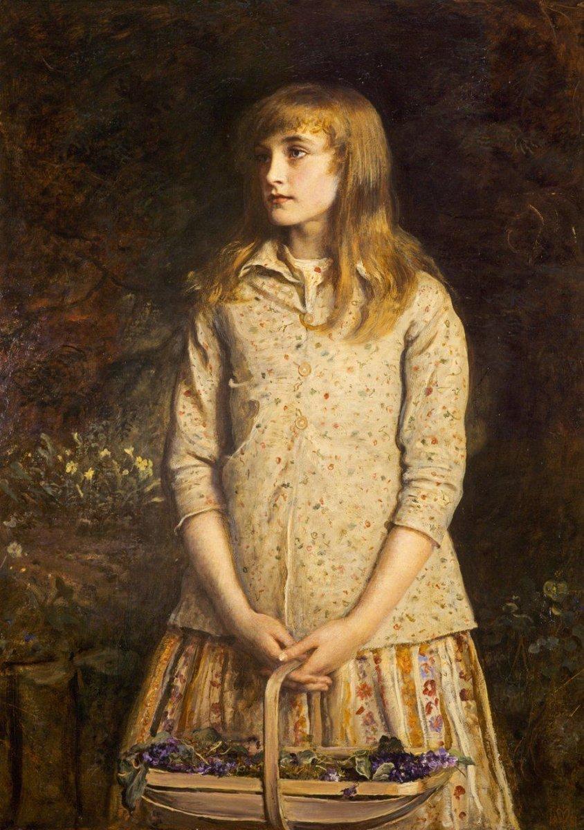 """Sweetest eyes that were ever seen…"" by John Everett Millais, 1881 https://t.co/4FQboSalCu"