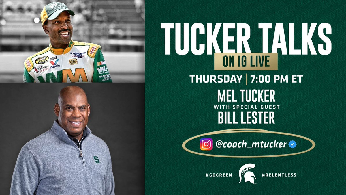 #TuckerTalks on IG LIVE is BACK👊🏾 Super excited to be joined by former @NASCAR driver, author and great guy, @Bill_Lester.  Hope to see you TOMORROW at 7 P.M. E.D.T.📆   #RelentlessChange https://t.co/vMjYDClQJ4