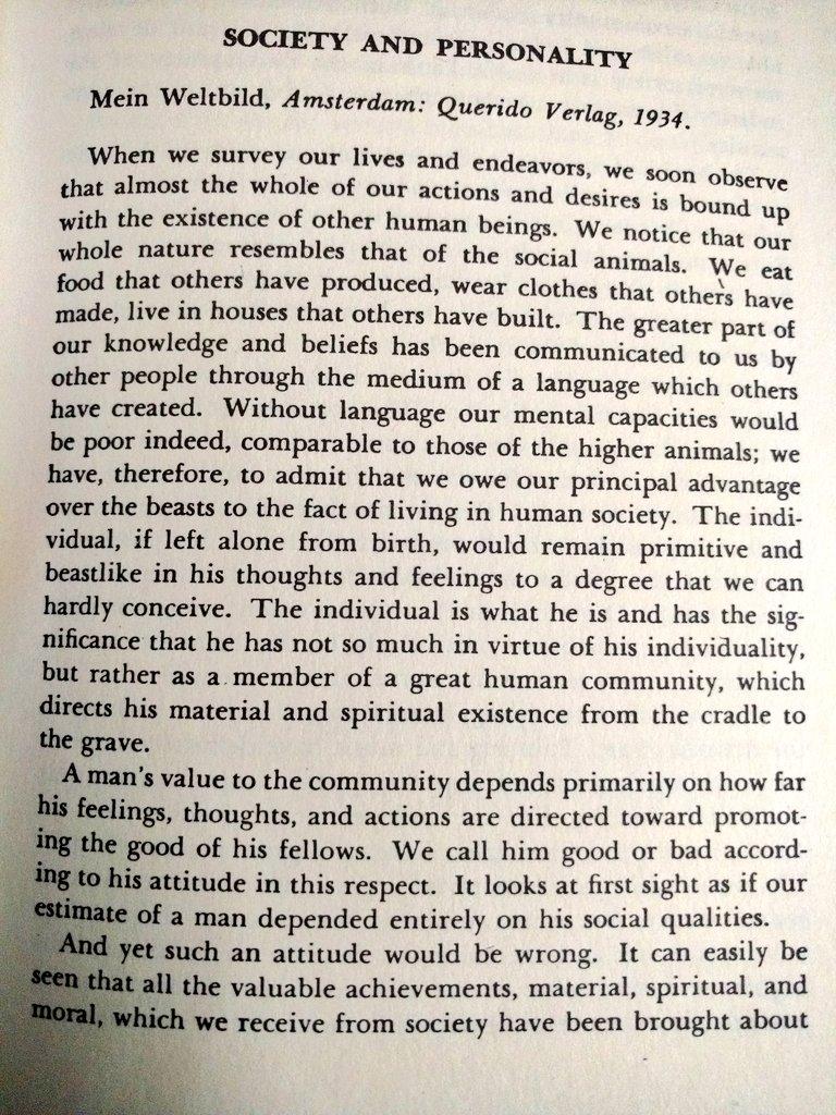 #AlbertEinstein on Society and Personality!  #WisdomWednesday #wisdompic.twitter.com/Ar04SMmBNU
