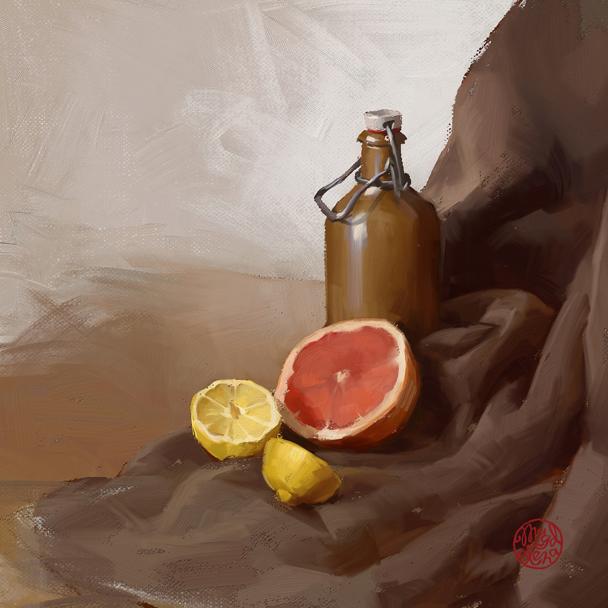 More still life painted in new Corel Painter 2021! Enjoying Thick paint brushes a lot! #digitalpainting #art #artsy #painting #digitalart #corelpainter  #hypnotizing_arts #artwork #artist2d #2dartist #wacom #oils #oilpainting #stilllife #brown #thickpaintpic.twitter.com/69mAxy8dws