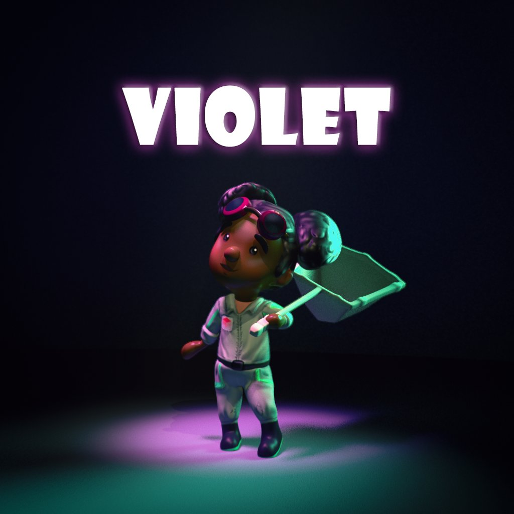 Meet Violet, our third member of the investigation team!  Don't fall prey to her bashfulness, as a graduate of entomology, she is a natural at handling things others find squeamish. And she is dab hand at handling a net!  🐛🦋 ———————————————————————— #tranzfuser2020 #npi #gcu https://t.co/Dw2Wt1VGUG