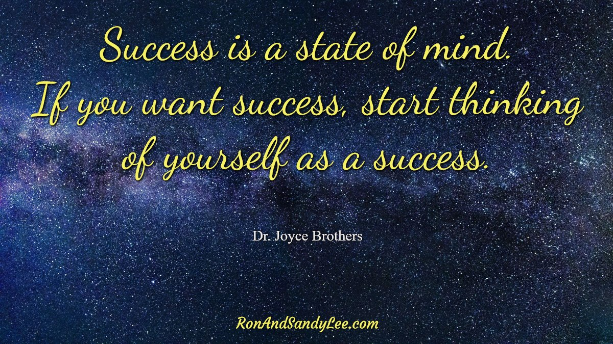"""""""Success is a state of mind. If you want success, start thinking of yourself as a success!"""" - Joyce Brothers Good, simple advice! Good, simple advice! #femalebusinessowner #entrepreneurspirit #womaninbusinesspic.twitter.com/9Eiqu4chhu"""
