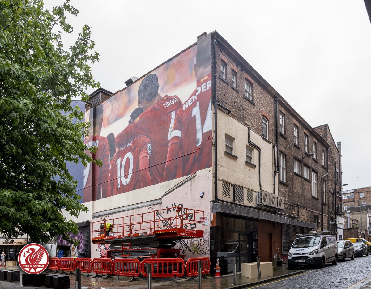 A new mural for the champions on Bold Street 😍