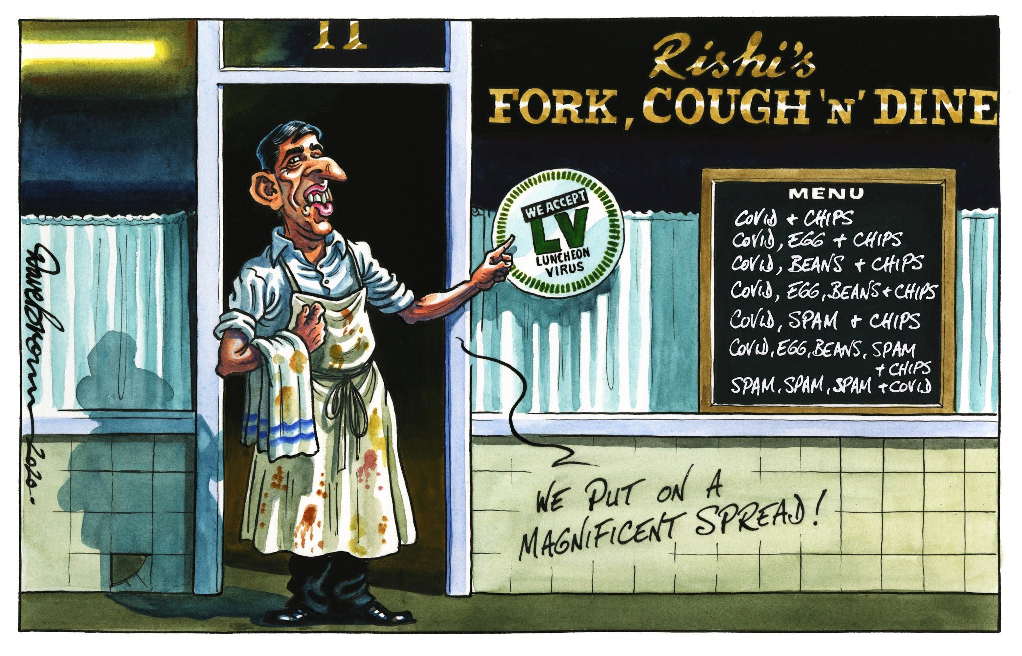 "Political Cartoon on Twitter: ""Dave Brown's @Independent cartoon...  #RishiSunak #SummerStatement #EatOutToHelpOut #COVID19 #Coronavirus # SuperSpreader - political cartoon gallery in London  https://t.co/dePcTdnXF6… https://t.co/XDxWE1jDGh"""