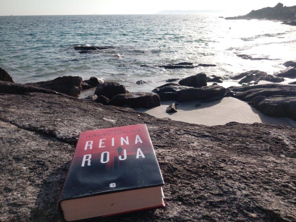 """Me parto con el inspector Gutiérrez 😂. Es de esos protagonistas adorables que tanto te inspiran ternura como te hacen desternillarte. """"Reina Roja"""" a orillas del Atlántico,  @JuanGomezJurado 📖🌊 #RíasBaixas"""