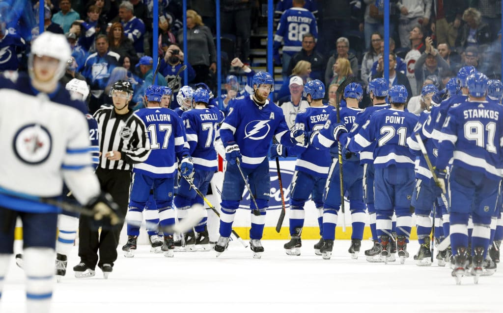 The cap-strapped Lightning will be challenged even more the next two years with the salary cap staying flat at $81.5 million for 2020-21 season and only adjusting after the NHL hits $4.8 billion in revenues. How can the team make it work? By @JoeSmithTB. https://t.co/0ffvHguFvs https://t.co/sxu4PM8u8e