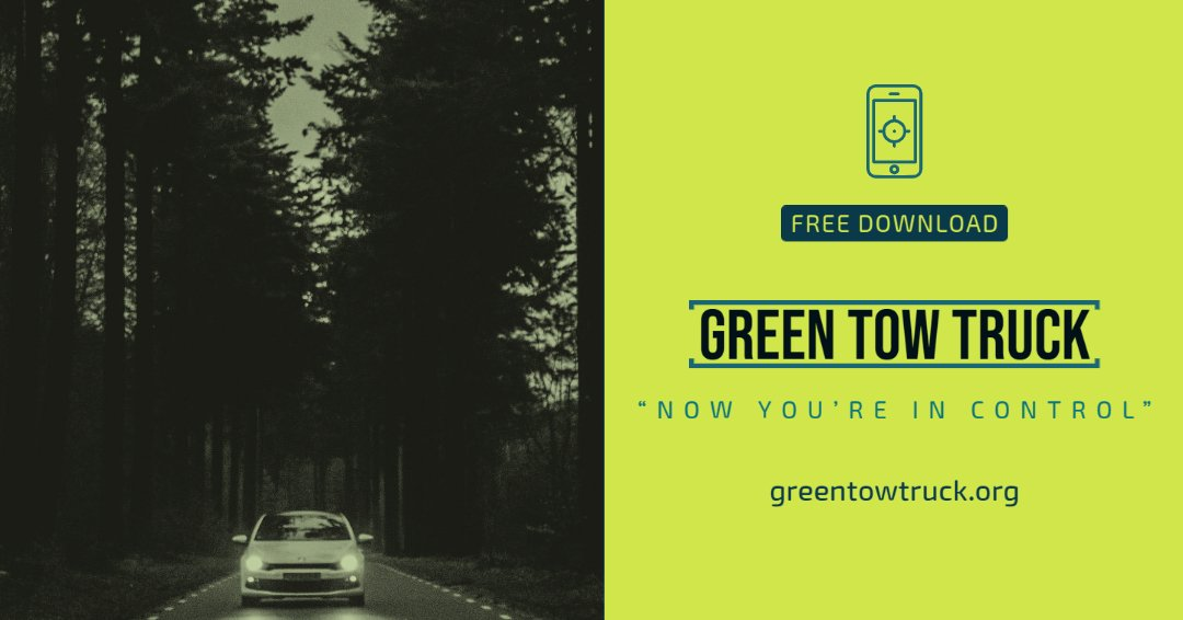 Like being in control? - We thought so - _ Free mobile application for roadside assistance and towing services is available in Google Playstore for Android version.  _ Green Tow Truck is a charitable project   _ #android #playstore #google #postoftheday #roadside #jumpstartpic.twitter.com/Y8RvZPrikV