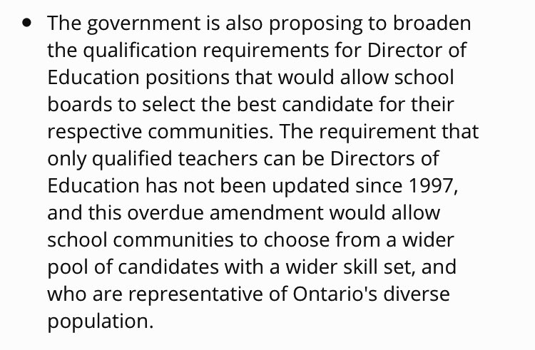 Here's the wording from the news release: #OntEd #OnPoli