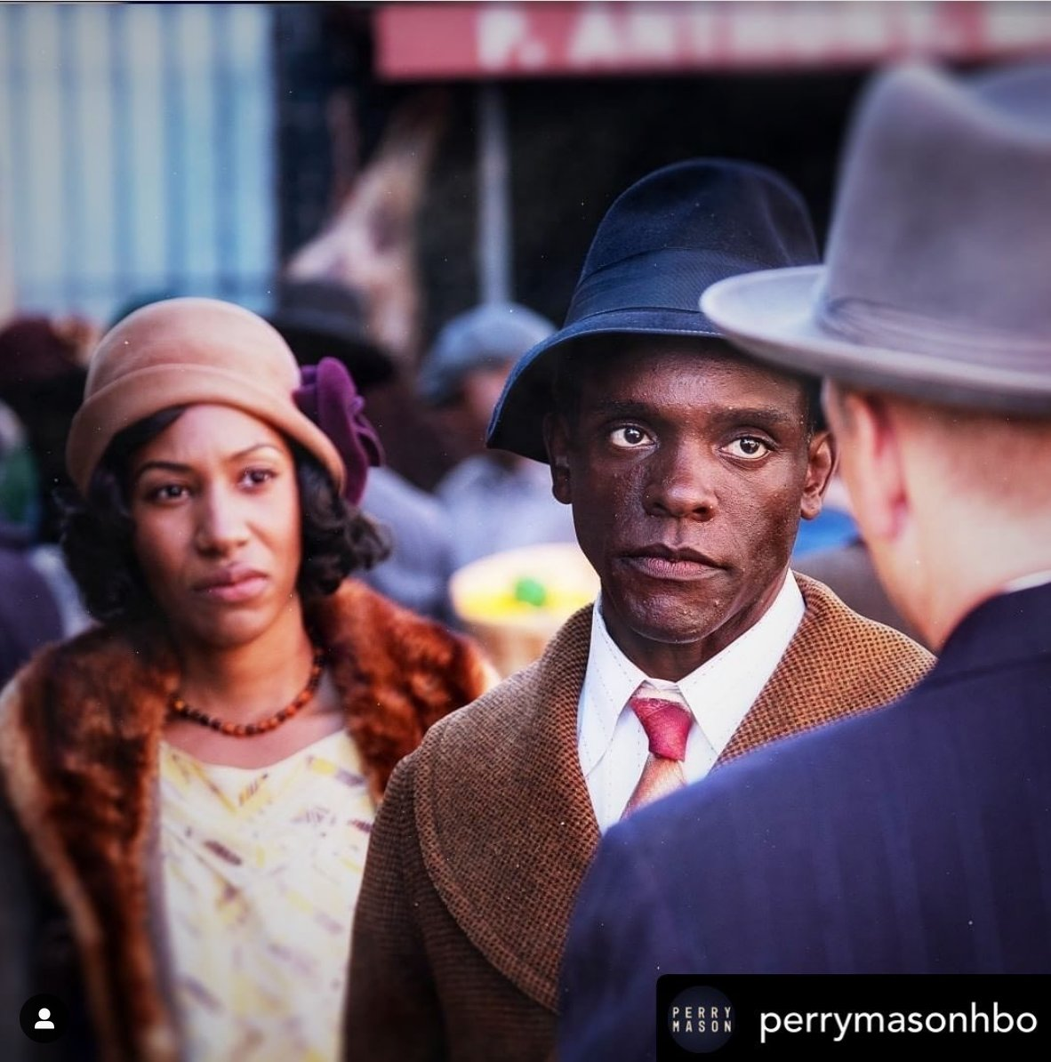 Whos watching @PerryMasonHBO ? If you havent seen it yet, give it a look; it features our very own Lucius Fox, @chalkchris and its really good!