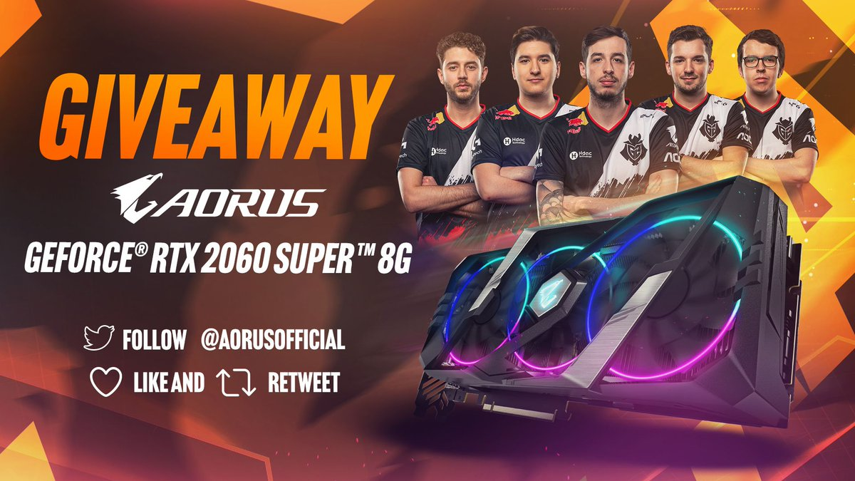 To celebrate @G2Esports' 1st place peak on @HLTVorg rankings, we're giving away an AORUS GEFORCE RTX 2060 SUPER graphics card!   To enter (~7/15/2020): ❤️🔁LIKE and RT this post. ✅FOLLOW @AorusOfficial. 📝COMMENT what you like about our graphics card.  #AORUS #G2Army #Giveaway https://t.co/htmUvoAPdg
