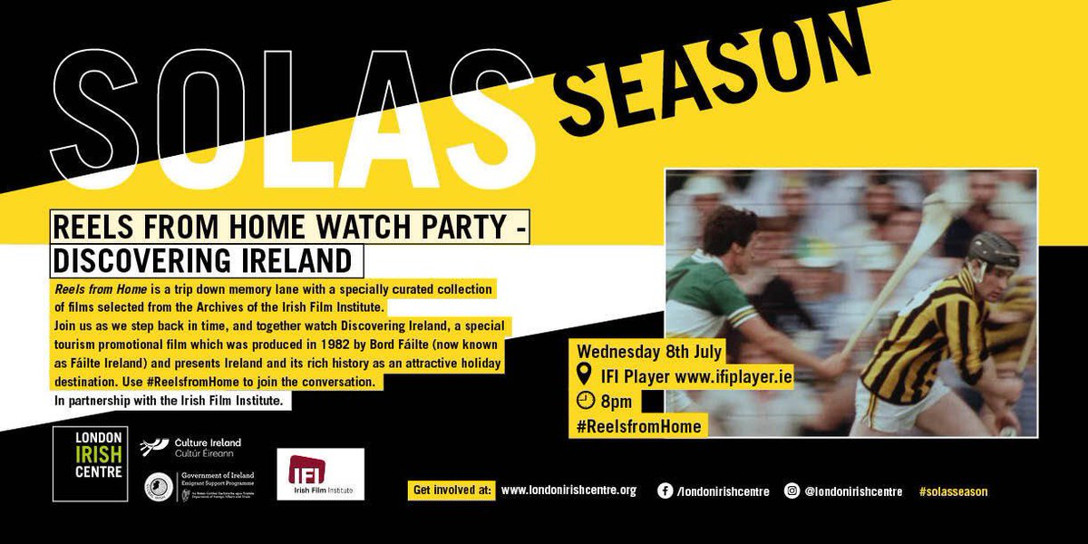 5 minutes to go! #ReelsfromHome watch party with @IFI_Dub Watch Discovering Ireland here: ifiplayer.ie/discovering-ir…