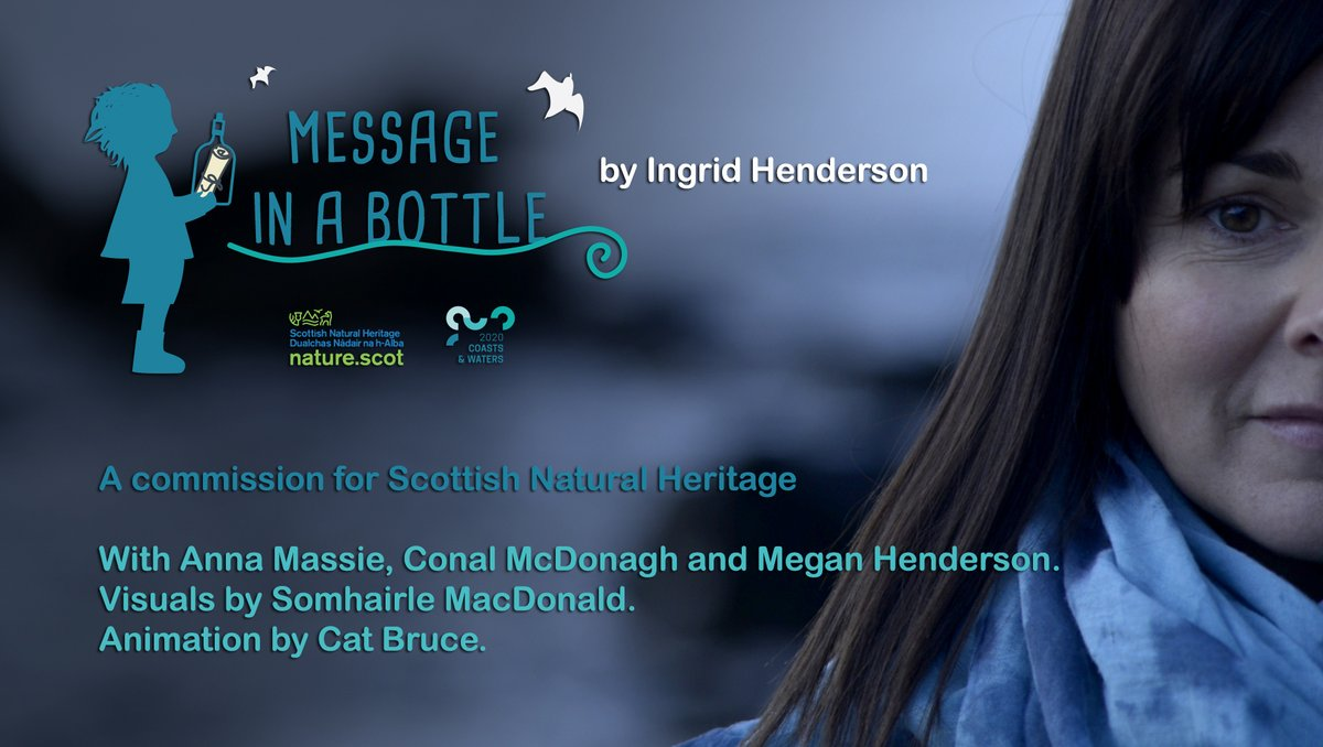 🎼This is your half-hour countdown! Join us and @ingridhendo at 8.30pm on the SNH Facebook page for music, chat, animation and film in our Message in a Bottle taster 🎼Full details: ow.ly/HEs250ArRnt